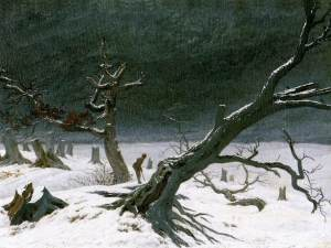 """Winter Landscape"" by Caspar David Friedrich"